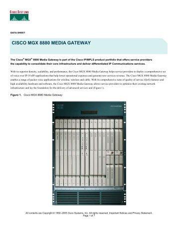 CISCO MGX 8880 MEDIA GATEWAY - SINA Trading Co.