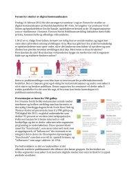 Les hele rapporten fra møtet i forum for sosiale medier. - Norsk ...