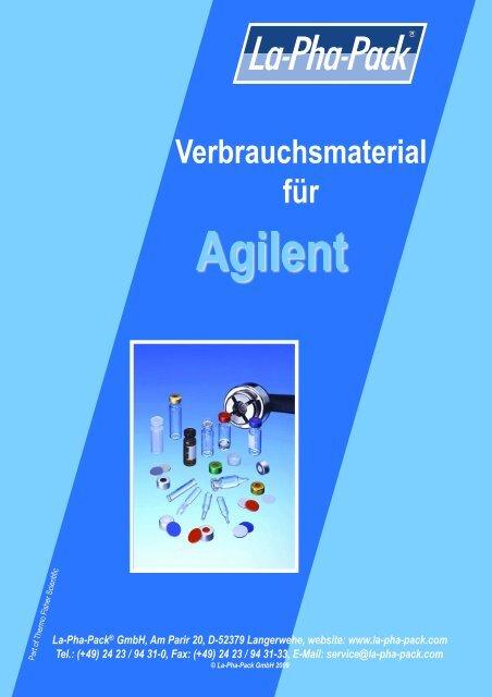 Verbrauchsmaterialien für - Markus Bruckner Analysentechnik