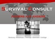 Survival Consult - Was wir für Sie tun können