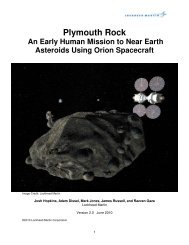 Plymouth Rock An Early Human Mission to Near ... - Lockheed Martin