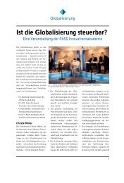Ist die Globalisierung steuerbar? - Profi4project.com