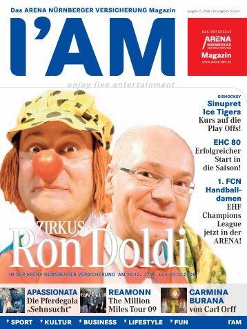 SHOW - I AM Das ARENA NÜRNBERGER VERSICHERUNG Magazin