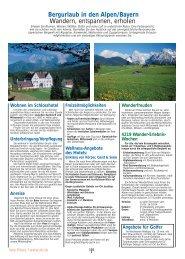 Bergurlaub in den Alpen/Bayern Wandern, entspannen, erholen