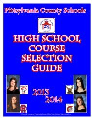 Course Selection Guide 2013-14 - Pittsylvania County Schools