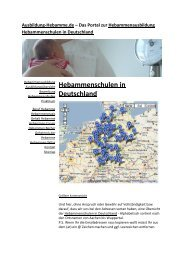 Hebammenschulen in Deutschland - Ausbildung Hebamme