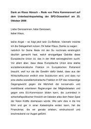 Dank an Klaus Hänsch – Rede von Petra Kammerevert auf dem ...