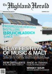 Sommer 2013 als PDF herunterladen. - The Highland Herold