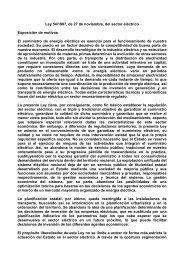 LEY 54/1997, de 27 de noviembre, del Sector Eléctrico