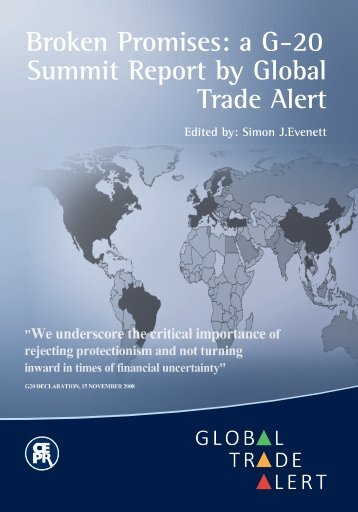 Broken Promises: a G-20 Summit Report by Global Trade Alert