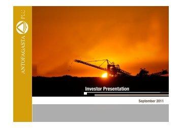Investor Presentation - Antofagasta plc