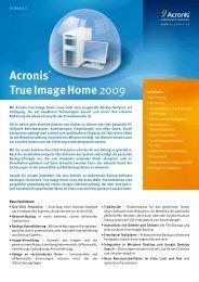 Acronis® True Image Home2009