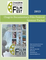 Sponsor Information and Form - Chagrin Documentary Film Festival