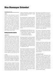 Bina Otomasyon Sistemleri - TTMD