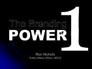 Discover the Branding Power of One, Ron Nichols, National Public ...