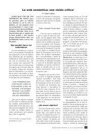 La web semántica - El profesional de la información