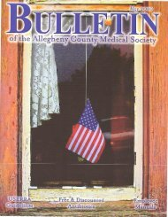 May 2010 Bulletin - Allegheny County Medical Society