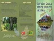 Johnston County Natural Resource Initiative - NC Forest Service
