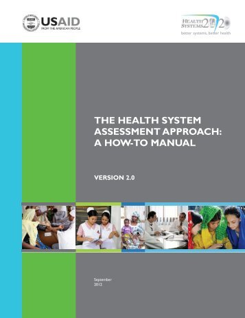 the health system assessment approach: a how-to manual version 2.0
