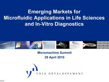 Emerging Markets for Microfluidic Applications, Frédéric Breussin ...