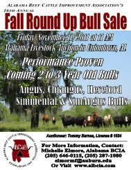 Front Cover-2011 Fall Round Up Sale Catalog - AL BCIA