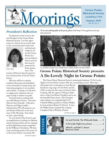 2009 Summer - Volume 26 No.3 - Grosse Pointe Historical Society