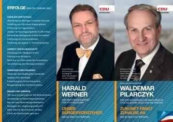Waldemar Pilarzyk - Kandidatenflyer - CDU OV Stockelsdorf