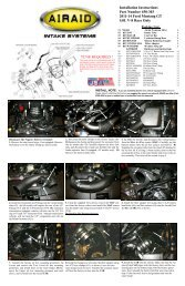 Installation Instructions Part Number 450-303 2011-14 Ford ... - Airaid