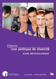 Elaborer une politique diversité - Guide méthodologique ... - Fedweb
