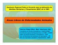 Horris F. Silva. Áreas Libres de Enfermedades Animales