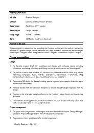 Job Description - Imperial War Museum