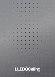 Metallic ceiling system/Hidden profiles - Lledo