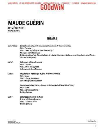 MAUDE GUÉRIN - Agence Goodwin