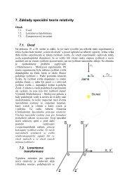 7. Základy speciální teorie relativity - Aldebaran