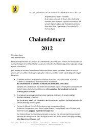Regeln Chalandamarz - Bever