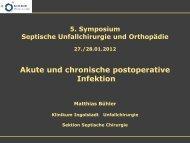 Dr. Matthias Buehler, postoperative Infektion - Septische Chirurgie