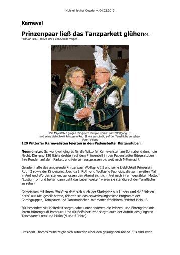 KG Wittorf e.V. Holst. Courier v. 4.2.2013