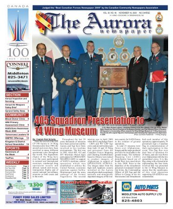 Nov 16 2009 - The Aurora Newspaper
