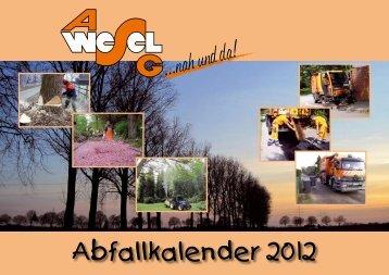 Abfallkalender 2012 - ASG Wesel