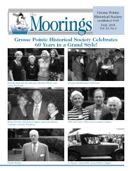 2005 Fall - Volume 22 No.2 - Grosse Pointe Historical Society
