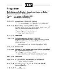 Programm Selbstbewusste Preise: Auch in ... - ROLLINGPIN