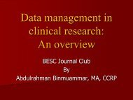 Data management in clinical research - the Research Centre Page