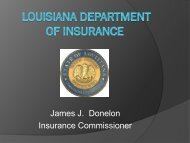 Property and Casualty Form Filing - Louisiana Department of ...