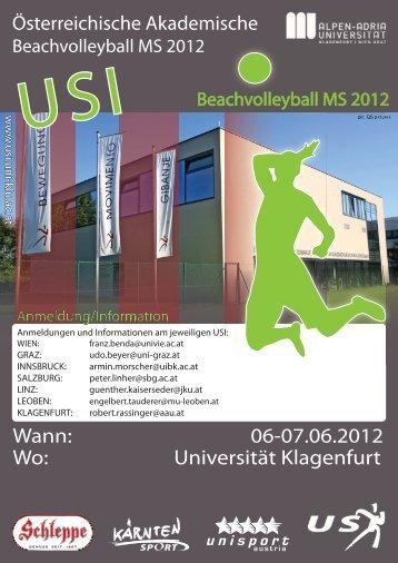 Ausschreibung Volleyball ÖAM2012.indd - USI Leoben