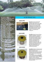 Aqua-Pro, -Mini, -Maxi und - DSCI Consulting