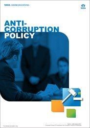 Tata Communications Anti-Corruption Policy