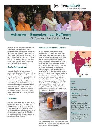 Ashankur - Samenkorn der Hoffnung - Jesuitenmission