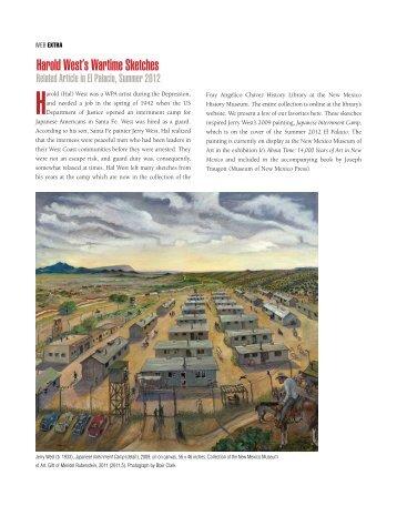 Harold West's Wartime Sketches - El Palacio Magazine