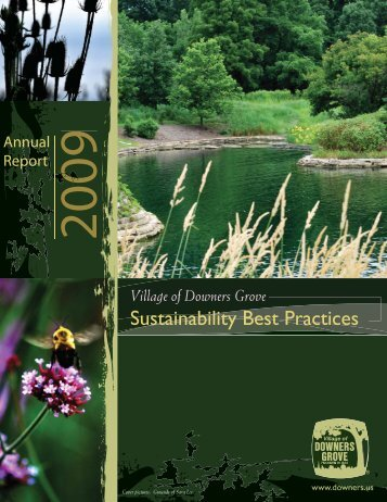 Sustainability Best Practices Report for 2009 - Village of Downers ...