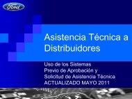 ¿Qué es Asistencia Técnica a Distribuidores?